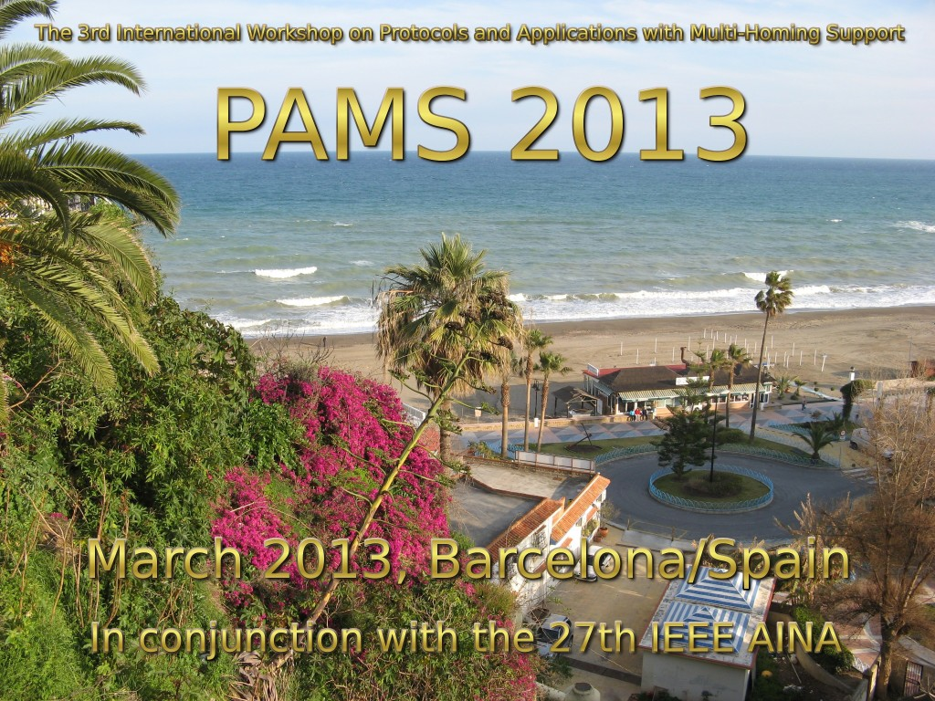 The 3rd International Workshop on Protocols and Applications with Multi-Homing Support (PAMS 2013)