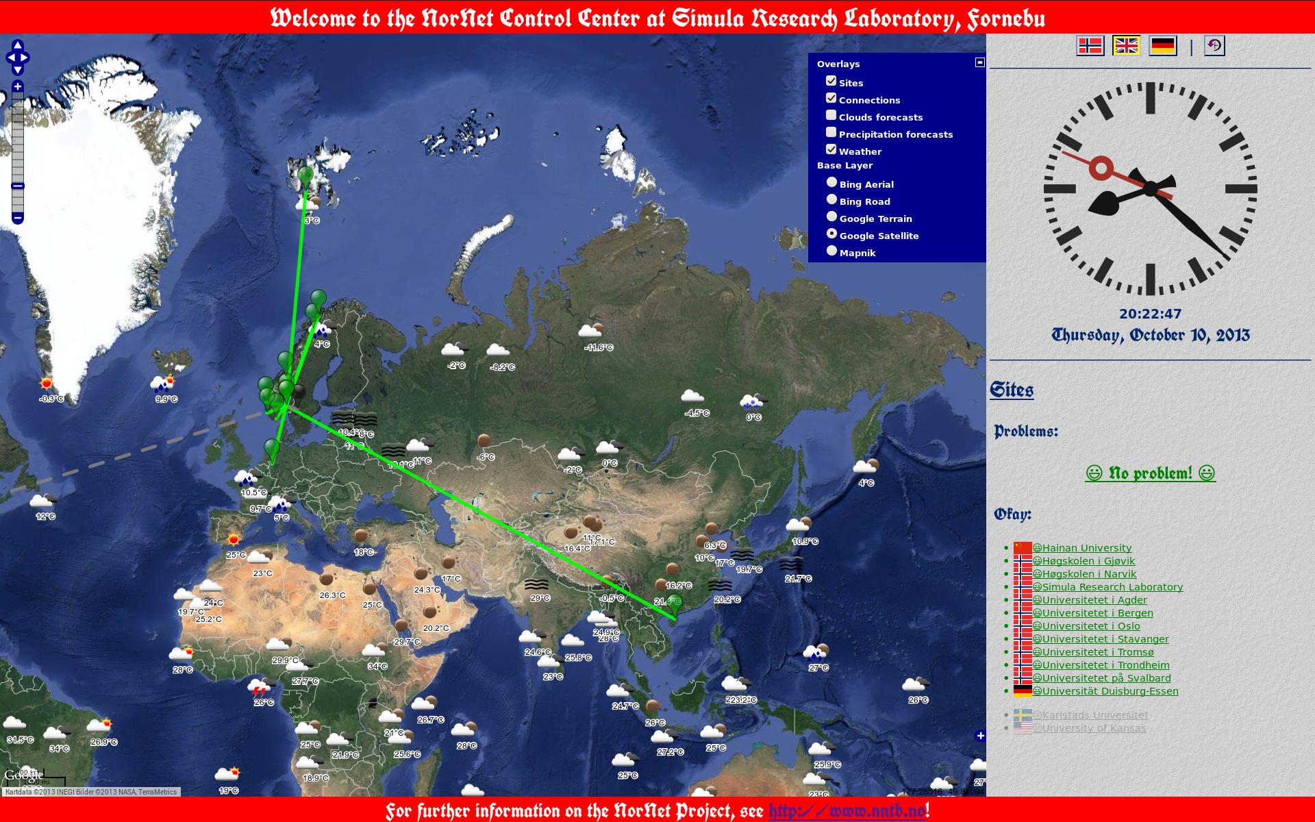 Kontrollsenter with View to Asia