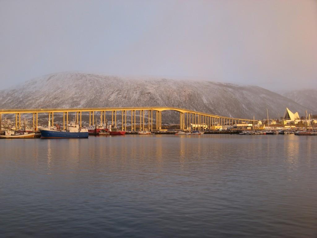 Tromsøbrua and Ishavskatedralen in Tromsø