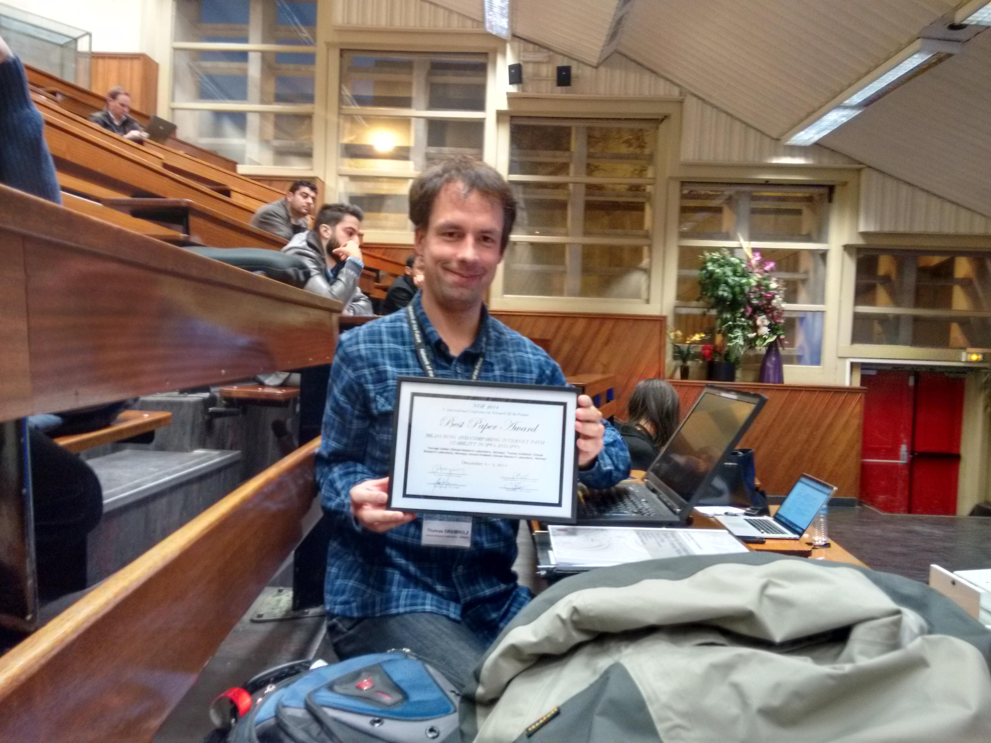 NoF 2014 Best Paper Award 1